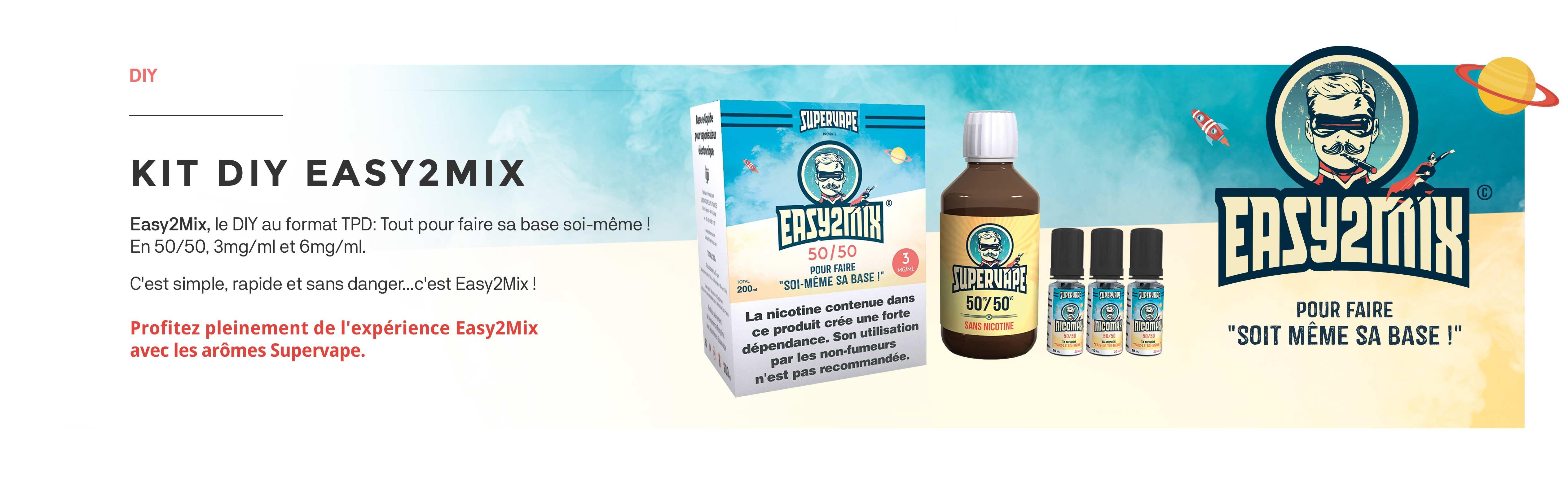 Les kits de bases pour e-liquide 200ml Easy2Mix